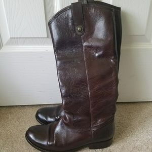 Frye Melissa brown tall boots